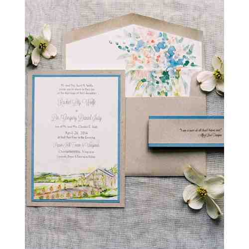 Medium Crop Of Watercolor Wedding Invitations