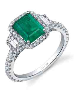 Small Of Emerald Wedding Rings