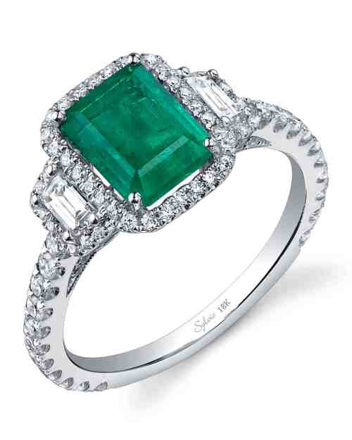 Medium Of Emerald Wedding Rings