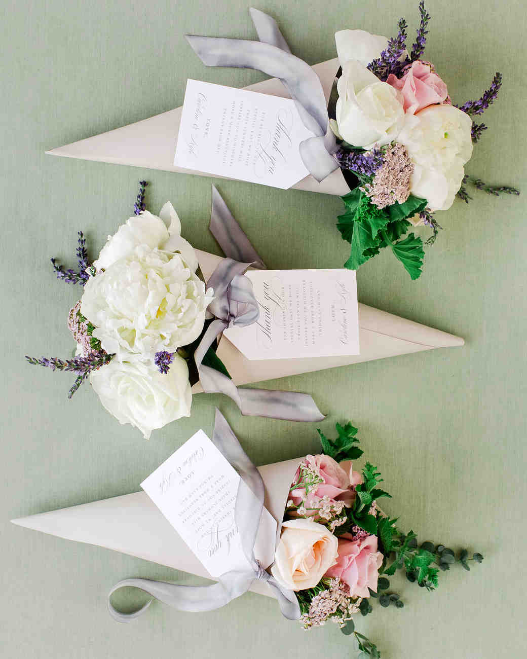 flower seed paper favors
