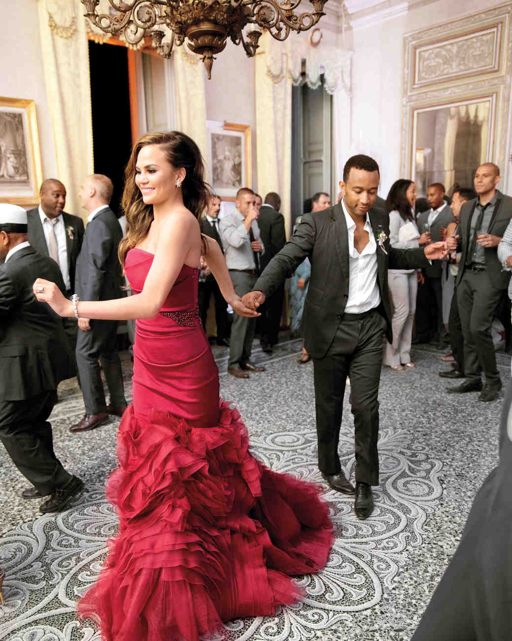 red wedding dresses red wedding dress Chrissy Teigen s Red Wedding Dress