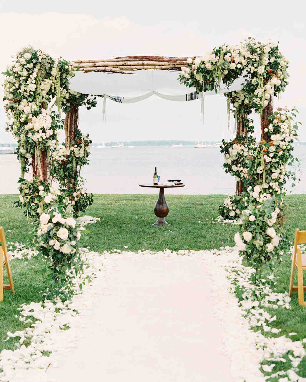 wedding arbor rustic arbor plans Rustic X wedding arch Do It Yourself Home Projects from Ana