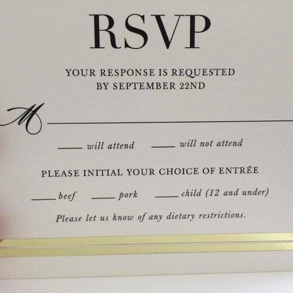 wedding invitation examples rsvp