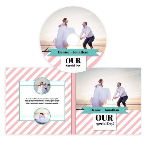 Wedding Cd Cover Template Photoshop - Mockaroon
