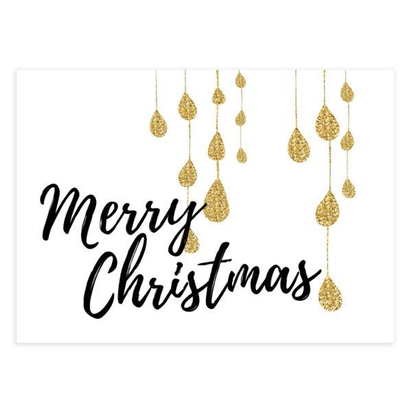 Gold Christmas Card PSD Template - Mockaroon