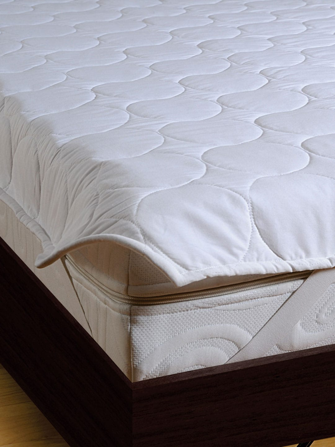 Double Bed Mattress Cover Swayam White Double Bed Mattress Protector