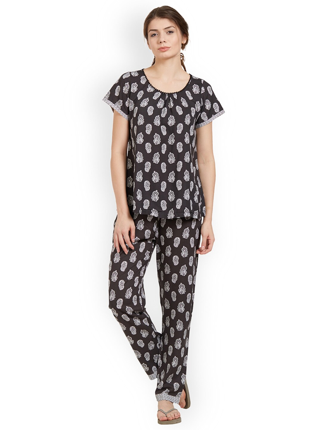Pyjama Soie Buy Soie Black Pyjama Set Nt 2 Night Suits For Women 1097390