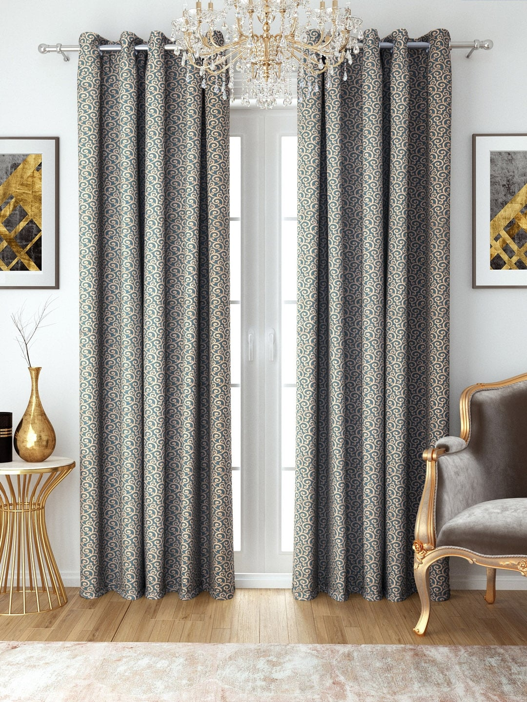 How To Make Curtain Lights Aura Green Brown Jacquard Single Room Darkening Door Curtains