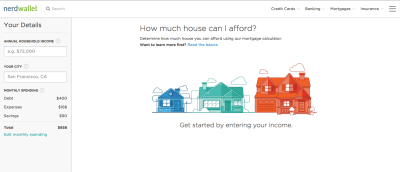 NerdWallet's Mortgage Calculator Allows Buyers to Determine How Much House They Can Afford ...