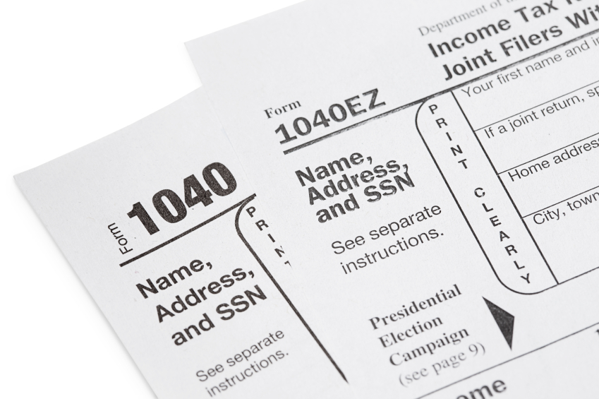 1040EZ, 1040A or 1040 Deciding Which Tax Form to Use - tax form