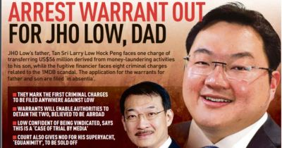 Jho Low, dad charged with money laundering   New Straits ...