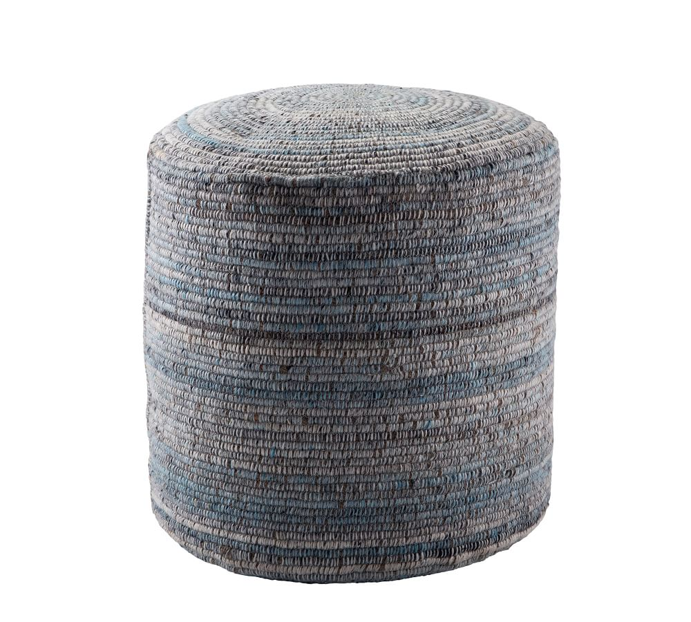 Reyer Handwoven Indoor Outdoor Pouf Pottery Barn