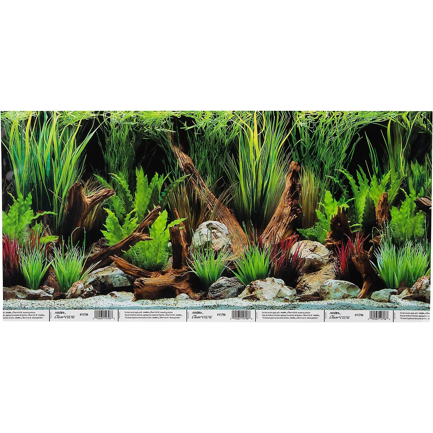 Hagen Marina Reversible Aquarium Background In Planted Oasis Slate Wall Petco