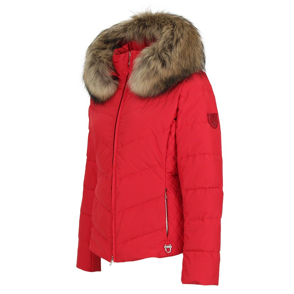 Fur Womens M Miller Lexa Down Ski Jacket With Real Fur Women S Red Xs