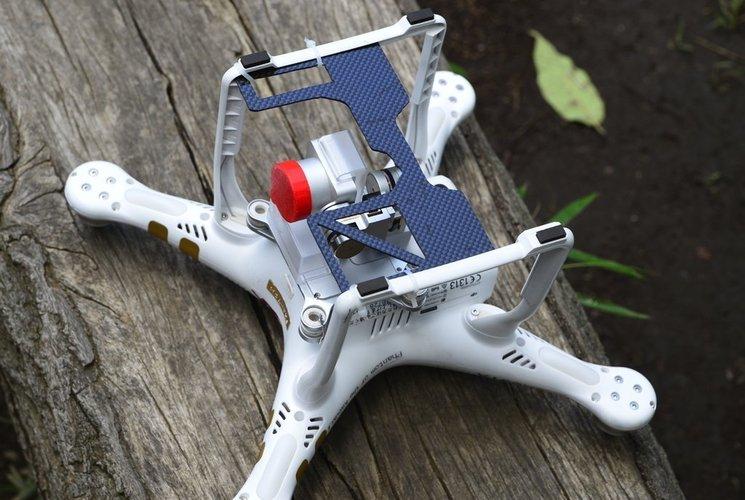 3D Printed DJI Phantom 3 gimbal camera guard template by taroh_zuo