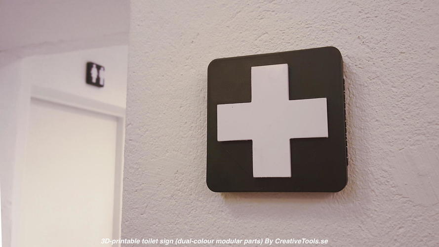 3D Printed Toilet signs (dual-colour modular parts) by CreativeTools