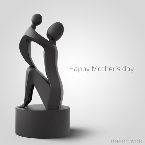 3D Printed Mother\u0027s Day Sculpture by MakePrintable Pinshape
