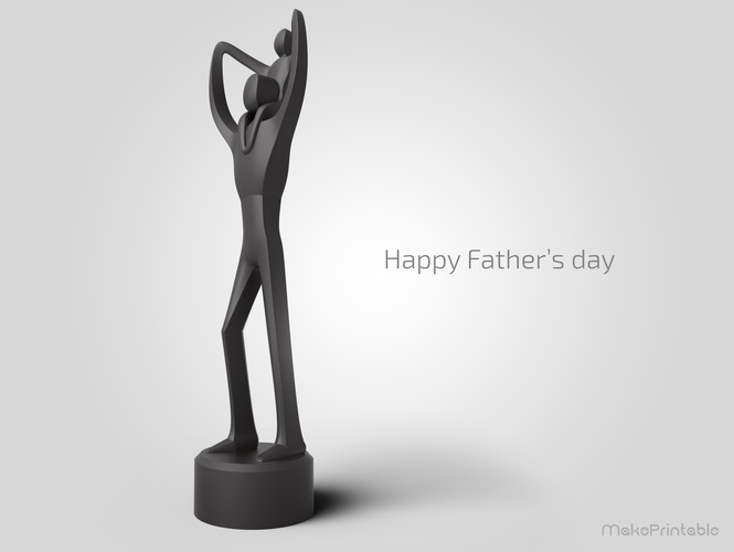 3D Printed Father\u0027s Day Sculpture by MakePrintable Pinshape