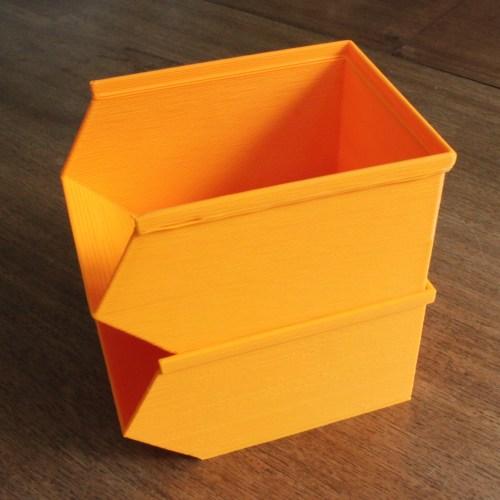 Medium Of Stackable Storage Bins