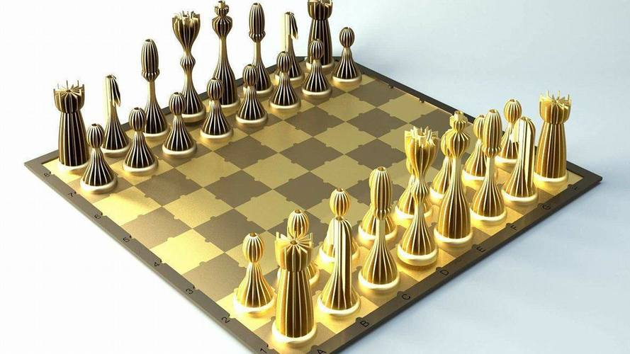 3D Printed Striped Chess with board all printable by Houba 28 Pinshape