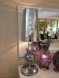 Extra Large Silver Chrome Table Lamp   Mulberry Moon