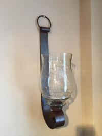 Large Hanging Metal Strap Wall Sconce / Candle Lamp ...