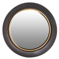 Modern Black & Gold Round Wall Mirror | Mulberry Moon
