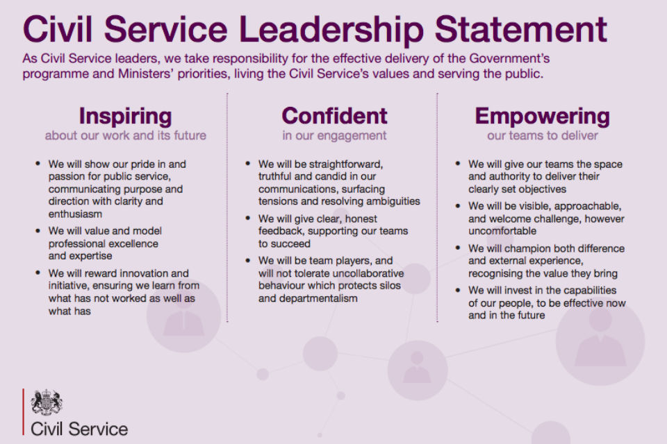Civil Service Leadership Statement - GOVUK - personal value statement examples