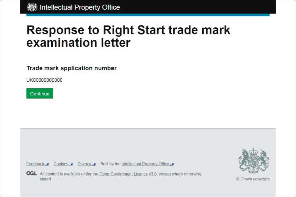 Responding to trade mark examination letters - GOVUK - how to right a letter