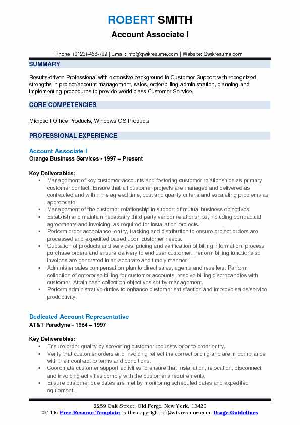 Account Associate Resume Samples QwikResume - customer service billing administrator resume