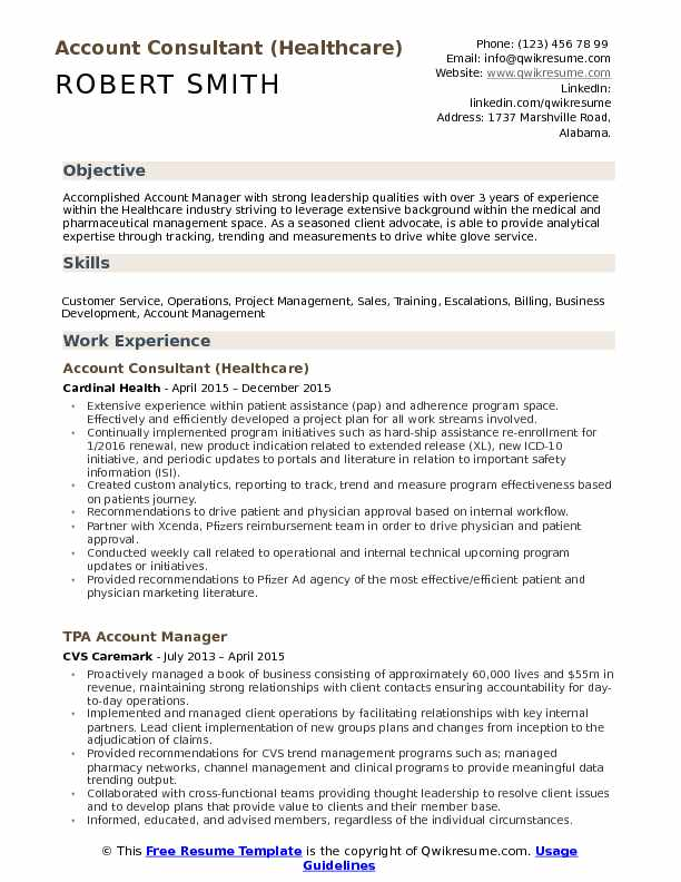 Consultant Resume Samples, Examples and Tips