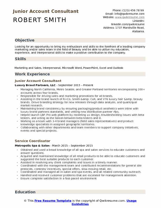 Account Consultant Resume Samples QwikResume