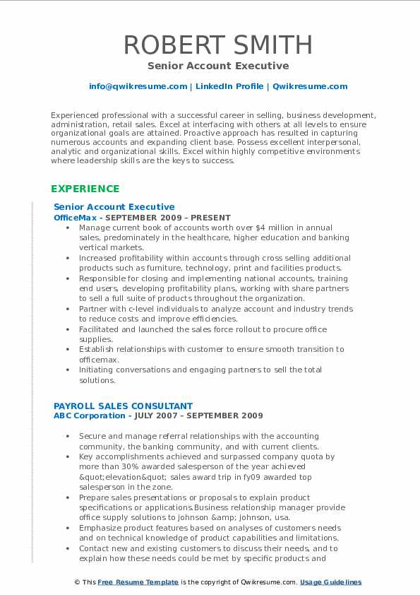 Account Executive Resume Samples QwikResume