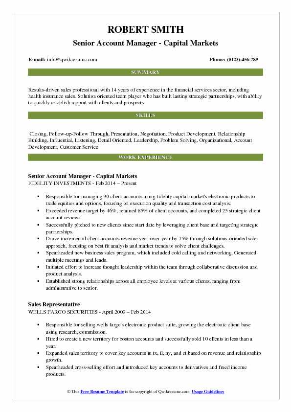 Account Manager Resume Samples QwikResume