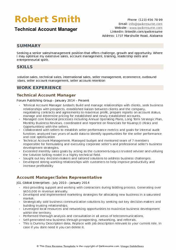 Account Manager Resume Samples QwikResume - account manager sample resume