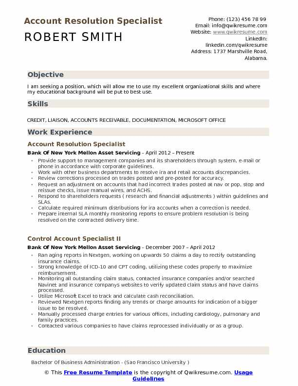 Account Resolution Specialist Resume Samples QwikResume - loan modification specialist sample resume