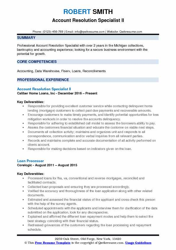Finance Resume Samples, Examples and Tips