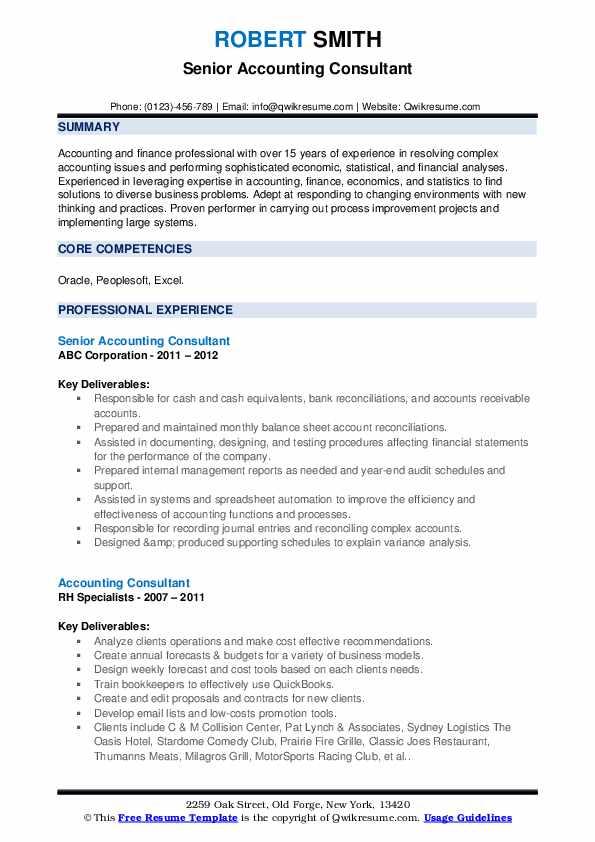 sample resume guidelines