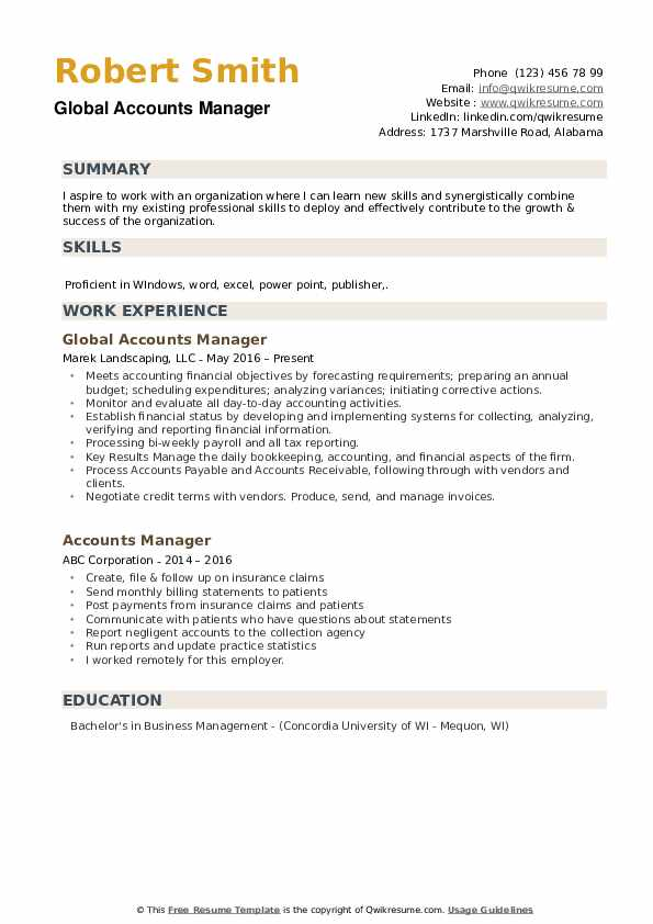 resume proficient in word excel