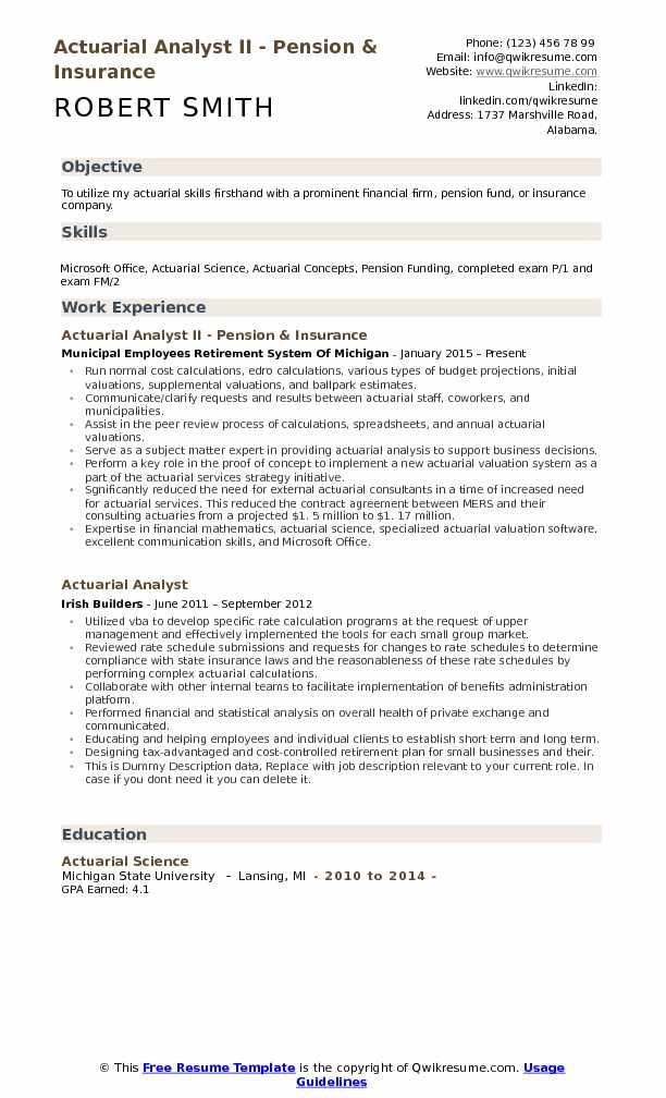 Actuarial Analyst Resume Samples QwikResume - legislative analyst sample resume