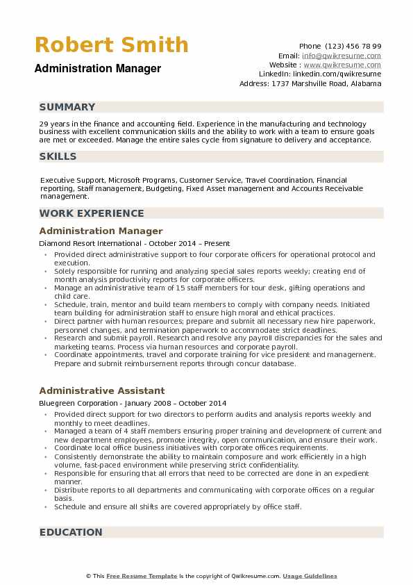 travel manager resume examples