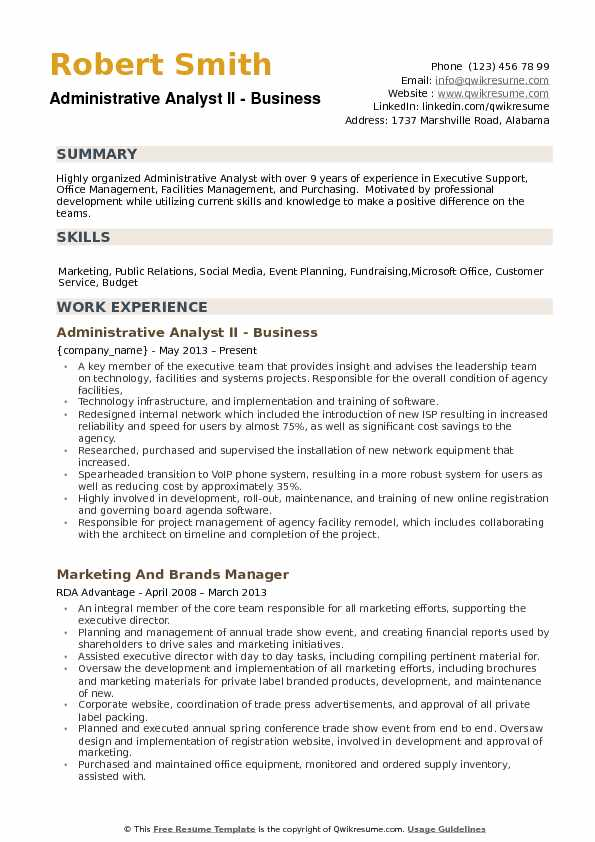 Administrative Analyst Resume Samples QwikResume - social media analyst sample resume