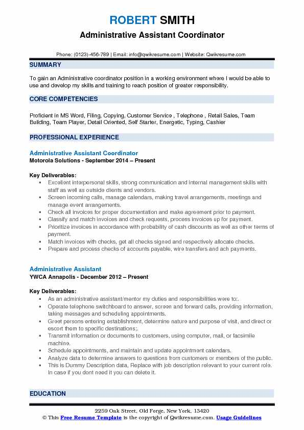 Detail Oriented Resume  Detail Oriented Resume