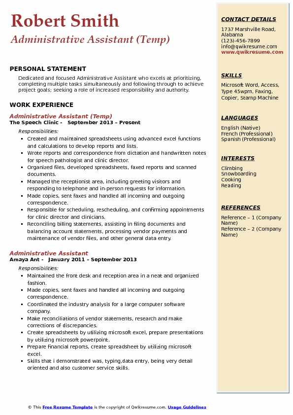 Administrative Assistant Coordinator Resume Samples QwikResume