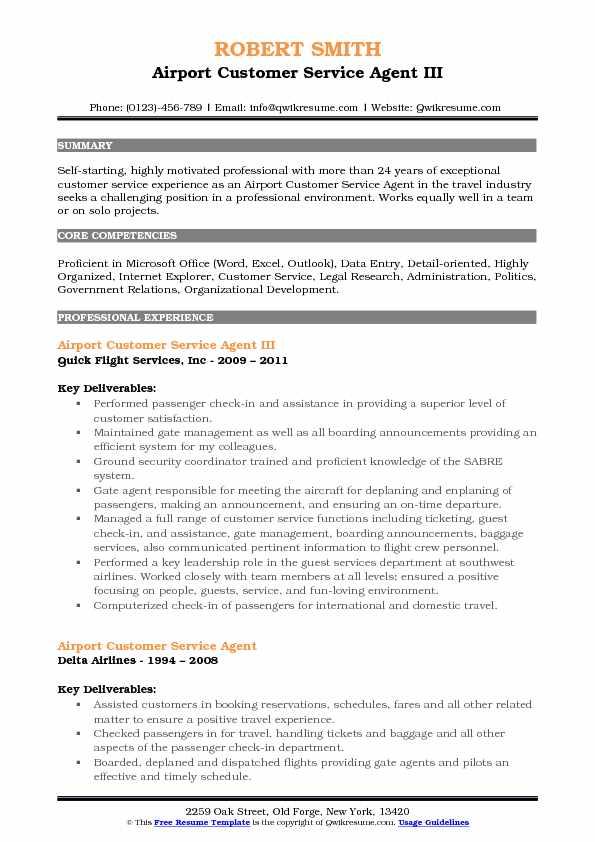 customer service agent resume sample