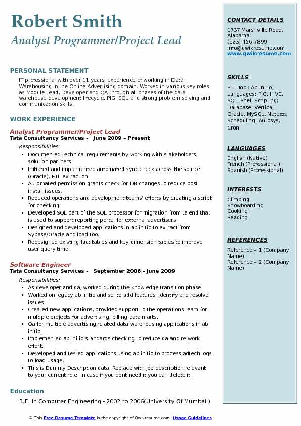 Analyst Programmer Resume Samples QwikResume - Db Programmer Resume
