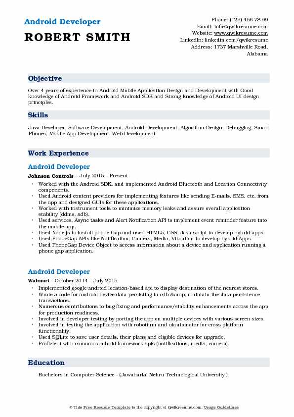 resume for web application testing