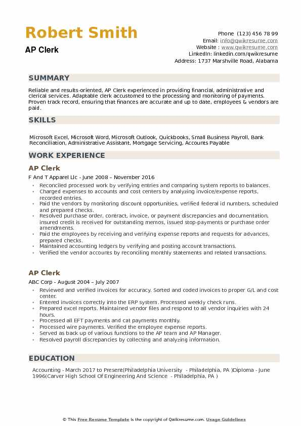 AP Clerk Resume Samples QwikResume - ap accountant sample resume