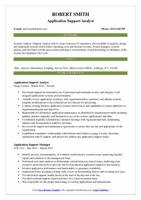 Application Support Analyst Resume Samples QwikResume - Application Support Resume Sample
