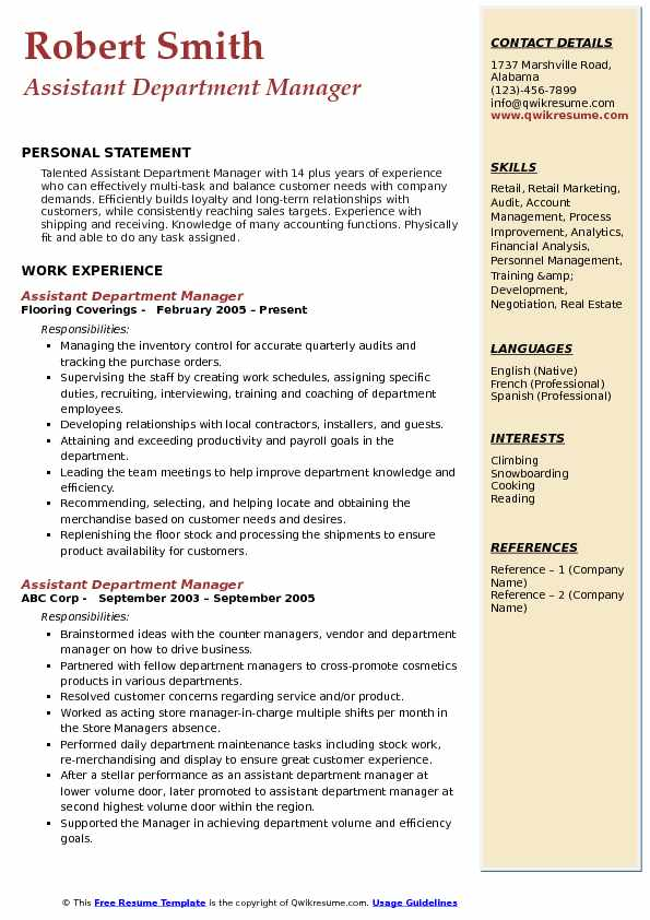 Assistant Department Manager Resume Samples QwikResume - assistant shipping manager resume